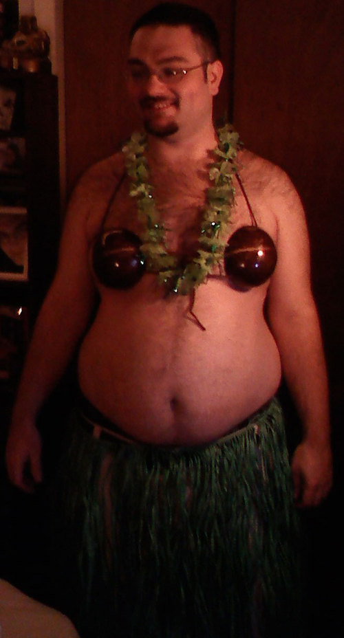I was wearing this for a luau birthday party we were going to.